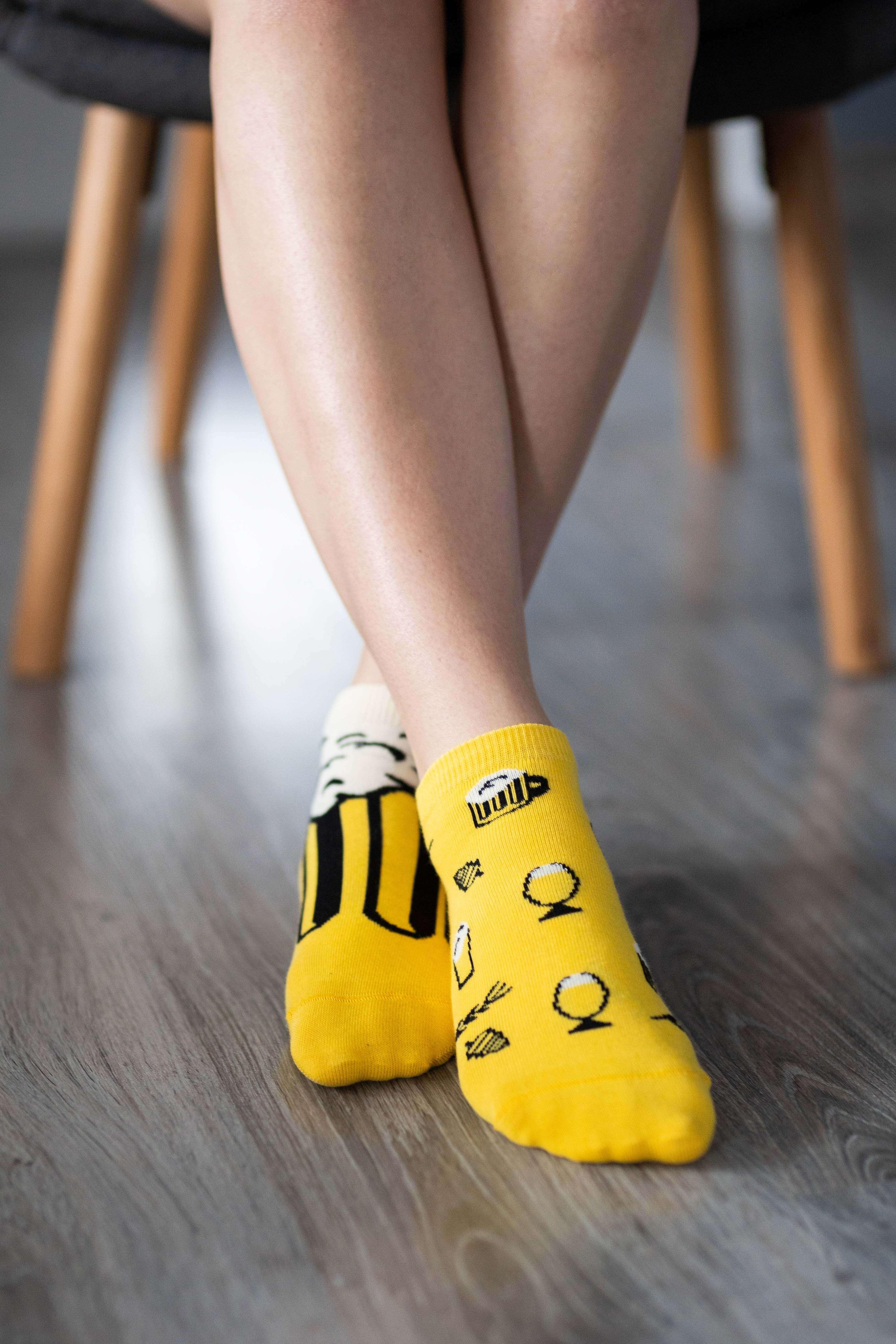 Levně Barefoot ponožky krátké - Pivo 35-38